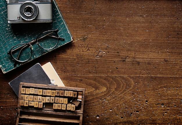 Máquina de escrever retro estilo antigo