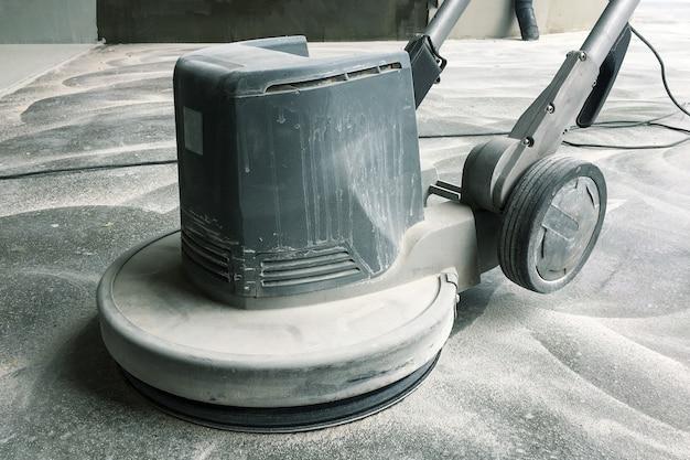 Máquina de esmerilhamento de piso de concreto, reparo de piso de concreto