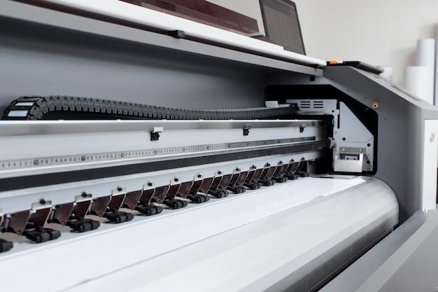 Máquina de impressão de grande formato, plotter de impressão. conceito de tecnologia.