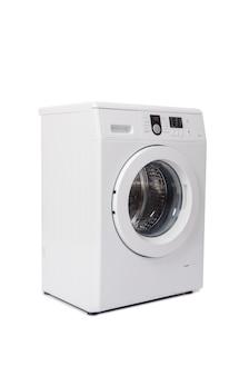 Máquina de lavar roupa isolada no branco