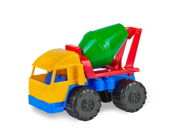 Máquina de misturador de cimento de brinquedo colorido.