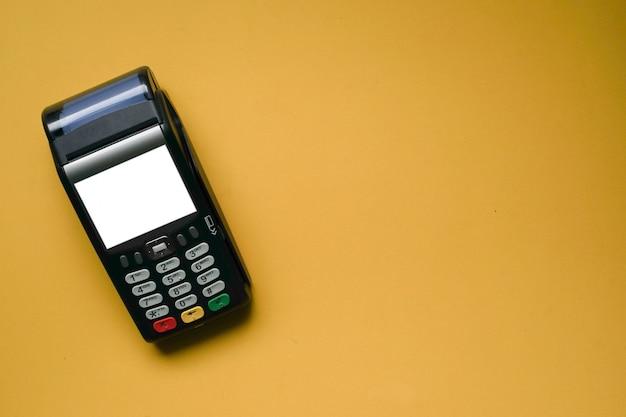 Máquina de pagamento sem contato com tela em branco