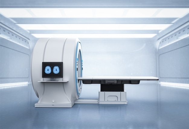 Máquina de varredura mri ou dispositivo de varredura de ressonância magnética