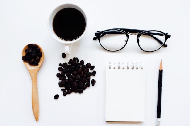 Marca de identidade de café mock up definido da vista superior.