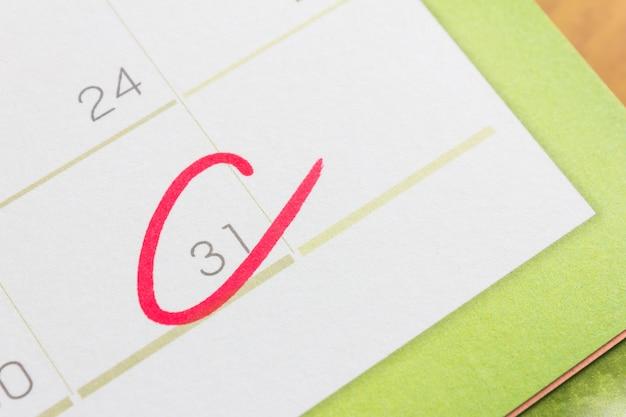 Marca do círculo no calendário