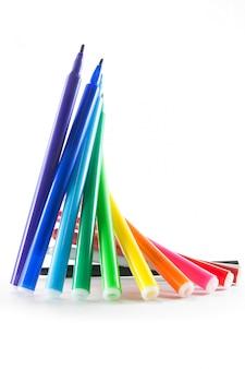 Marcadores de cores do arco-íris