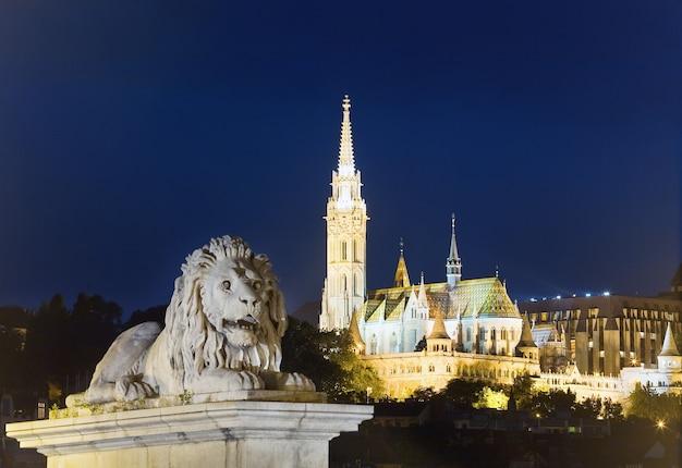 Marco húngaro, visão noturna de budapeste