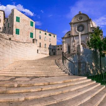 Marcos da croácia. famosa catedral de st james sv jakov em sibenik