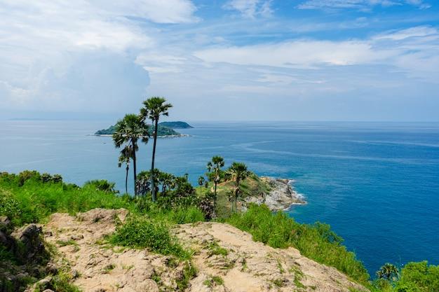 Marcos de belo ponto de vista em férias na ilha de phuket tailândia phuket