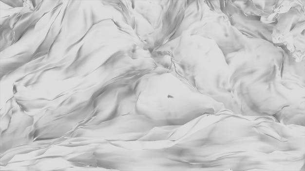 Marfim creme seda abstrato 3d ilustração