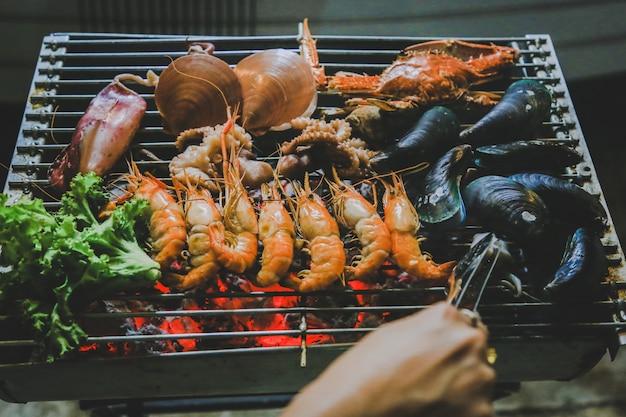 Marisco grelhado, comida de rua