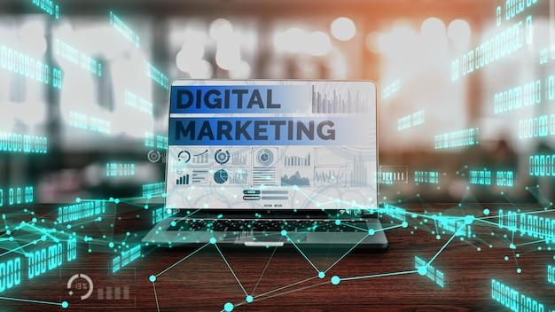 Marketing de negócios de tecnologia digital conceitual