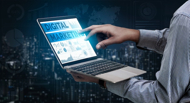 Marketing do conceito de negócios de tecnologia digital