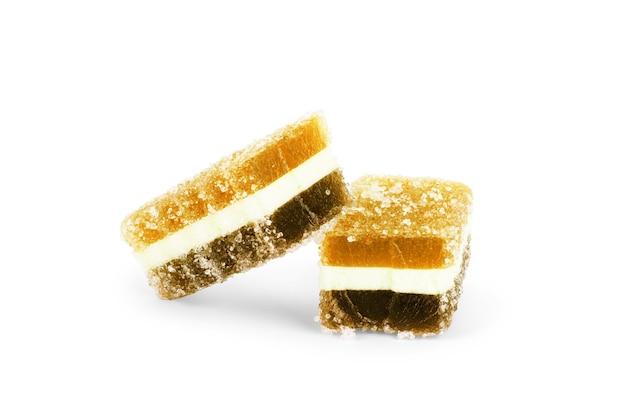 Marmelada de doces variados com cores diferentes