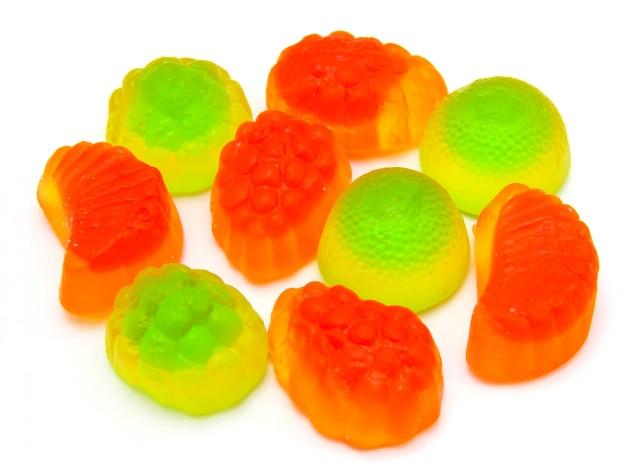 Marmelada de mascar multicolorida de todos os tipos, um fundo