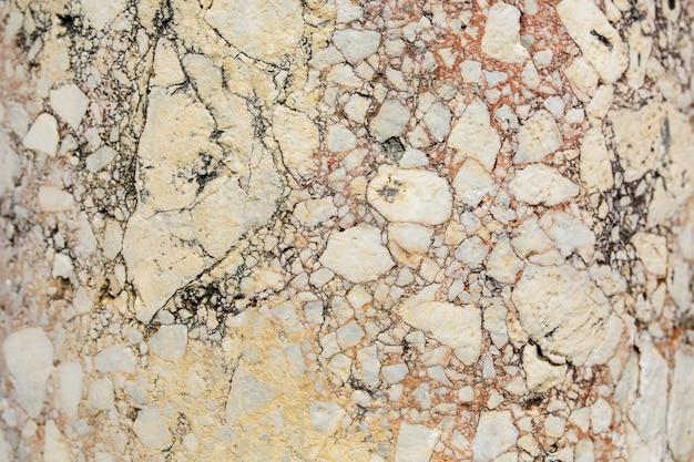 Mármore rosa antigo com rachaduras, textura de pedra