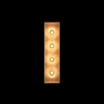 Marquee light alfabeto i