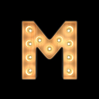 Marquee light alfabeto m