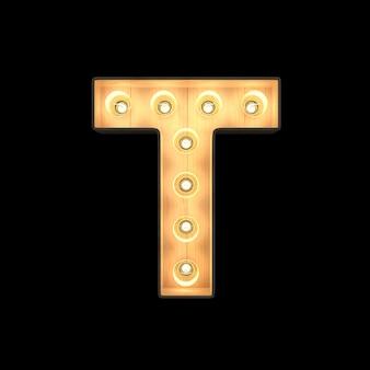 Marquee light alfabeto t