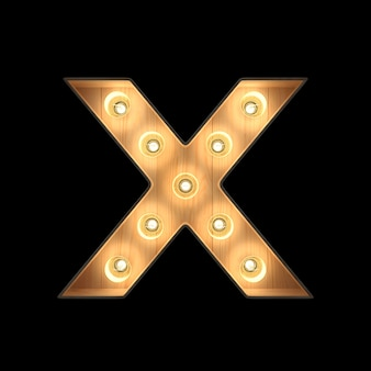 Marquee light alfabeto x