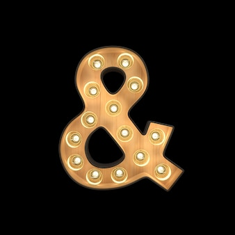 Marquee light ampersand symbol