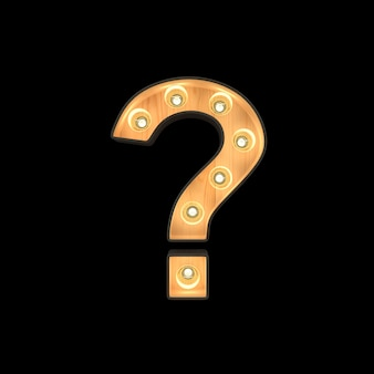 Marquee light question mark symbol