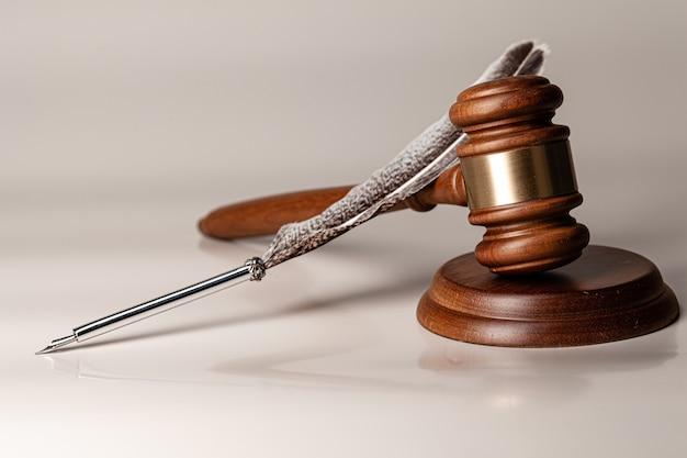 Marreta de um juiz, close-up foto