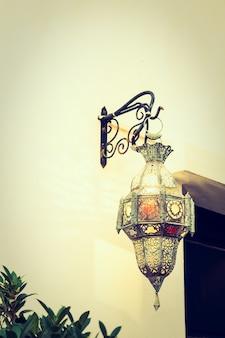 Marrocos decor lâmpada de luz