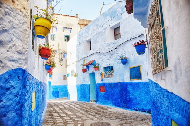 Marrocos é a cidade azul de chefchaouen