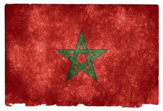 Marrocos grunge bandeira