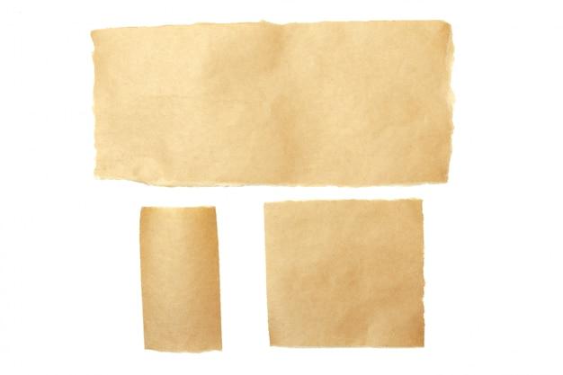 Marrom rasgado pedaços de papel