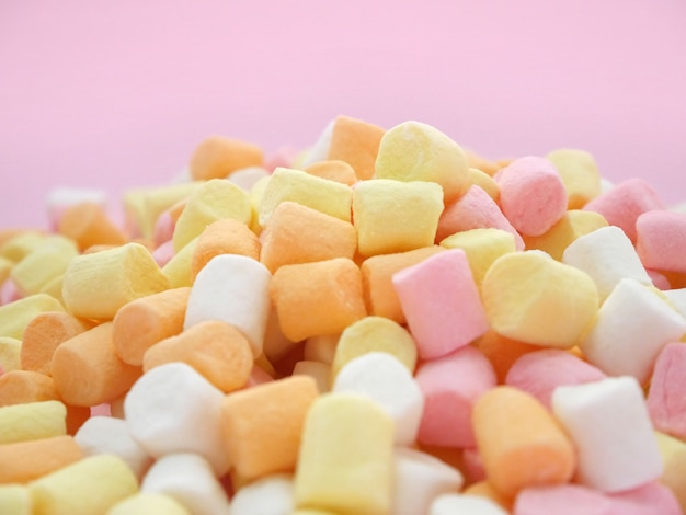 Marshmallow doce colorido