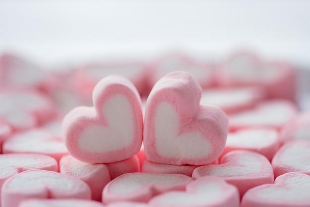 Marshmallow duplo em forma de coração