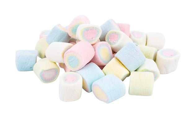 Marshmallows na superfície branca