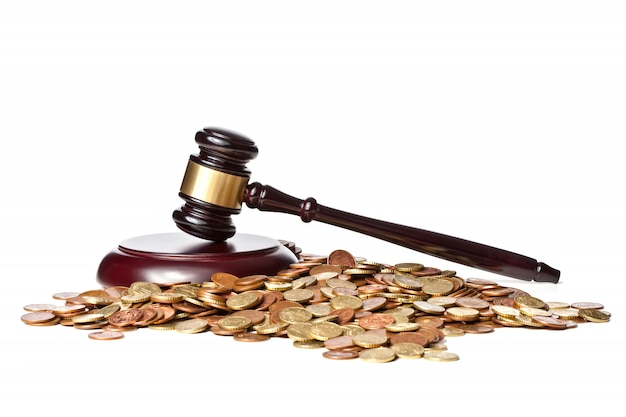 Martelo de juiz e euro