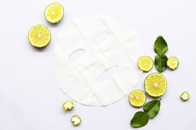 Máscara de folha de aroma natural para pele do rosto