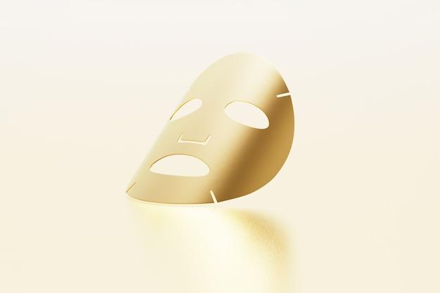 Máscara de folha de ouro isolada em ouro
