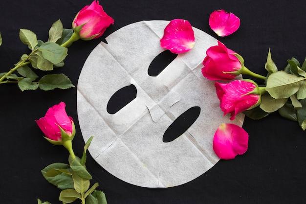 Máscara de folha natural para pele do rosto