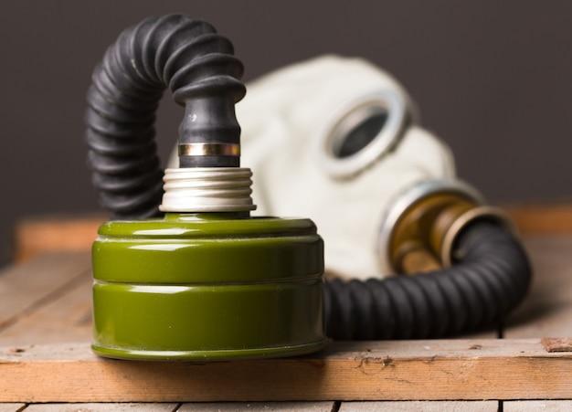 Máscara de gás velha