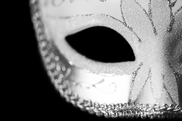 Máscara de máscara isolada close up foto