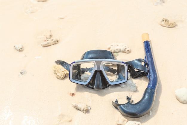 Máscara de mergulho e snorkel, mergulho com snorkel