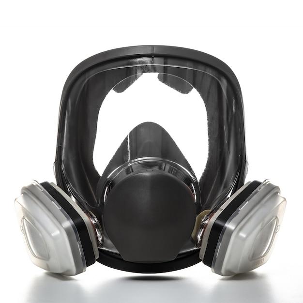Máscara de proteção com filtros, proteção profissional com ampla visibilidade.