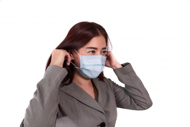 Máscara de utensílios femininos prevenir vírus covid19
