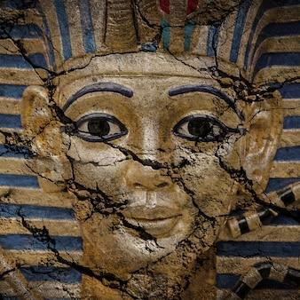 Máscara egípcia dos faraós de ouro - viaje ao conceito de egipto, caixão egípcio