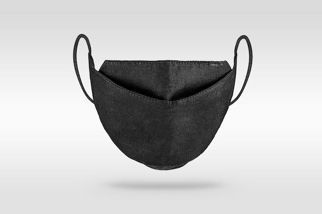 Máscara facial de tecido protetor preto
