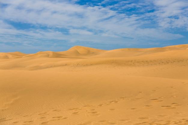 Maspalomas duna - deserto na ilhas canárias gran canaria