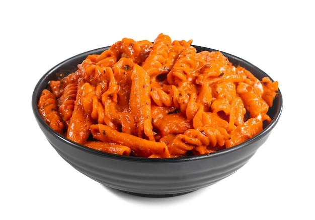 Massa com molho vermelho cozinha estilo italiano