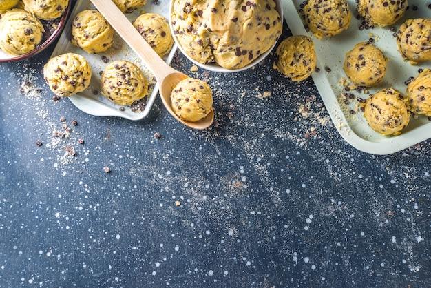 Massa de biscoito crua deliciosa