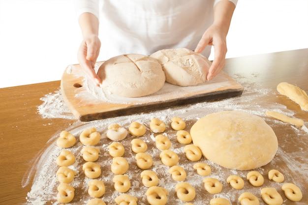 Massa fermentada para pão e bagels