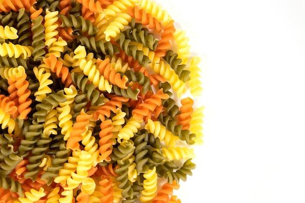 Massa italiana crua na cozinha